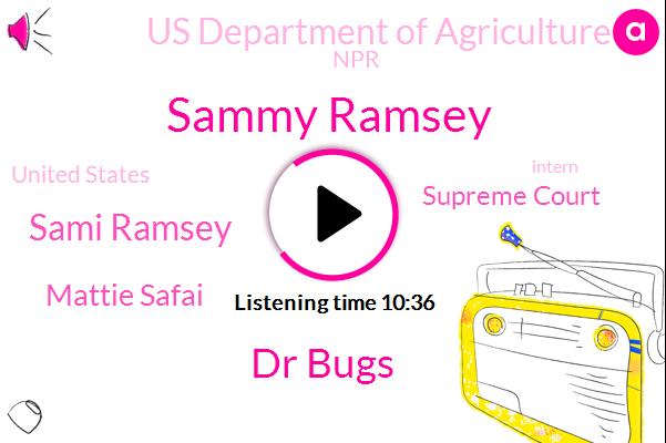 Supreme Court,United States,Sammy Ramsey,Dr Bugs,Sami Ramsey,Us Department Of Agriculture,Mattie Safai,NPR,Intern,Researcher