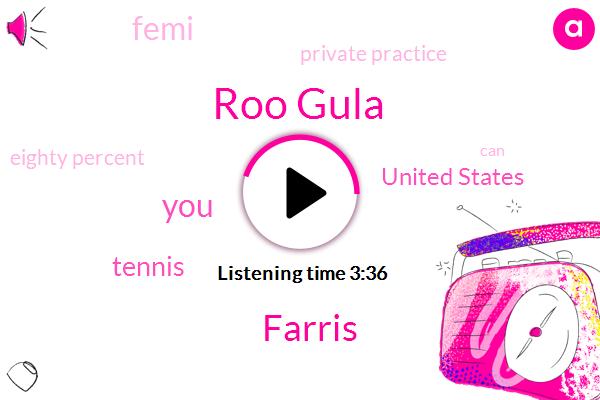 Roo Gula,Farris,Tennis,United States,Femi,Private Practice,Eighty Percent