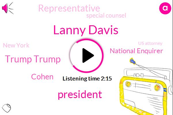 Lanny Davis,President Trump,Trump Trump,Cohen,National Enquirer,Representative,Special Counsel,New York,Us Attorney