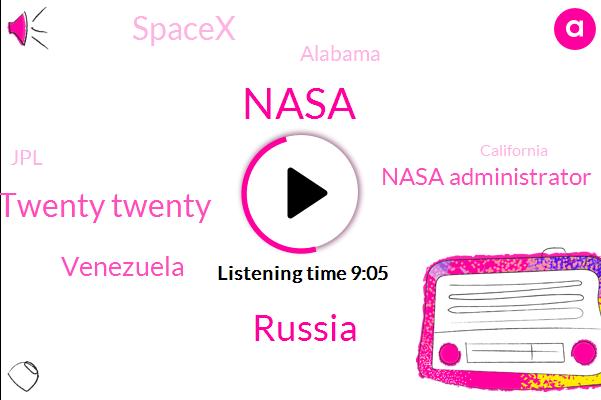 Nasa,Russia,Twenty Twenty,Venezuela,Nasa Administrator,Spacex,Alabama,JPL,California,Barack Obama,Jim Breitenstein,Puerto Rico,Diddy,European Space Agency,Santa Cruz,Coloma Ter,Cuba,Iraq