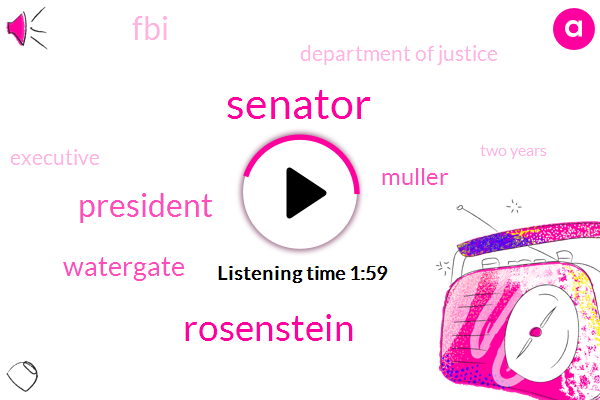 Senator,Rosenstein,President Trump,Muller,Watergate,FBI,Department Of Justice,Executive,Two Years,Twenty Four Hours,Four Hours,Two Hours