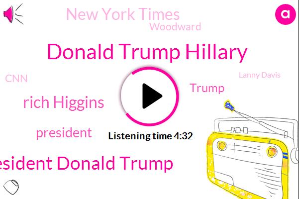 Donald Trump Hillary,President Donald Trump,Rich Higgins,President Trump,Donald Trump,New York Times,Woodward,CNN,Lanny Davis,Konami,Limbaugh,Senate,Nafta,Israel,China,United States,High Jerusalem
