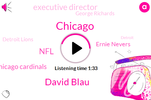 David Blau,NFL,Chicago Cardinals,Ernie Nevers,Chicago,Executive Director,George Richards,Detroit Lions,Portsmouth,Portsmouth Spartans,Detroit,Football,Chicago Bears,Joe Forget