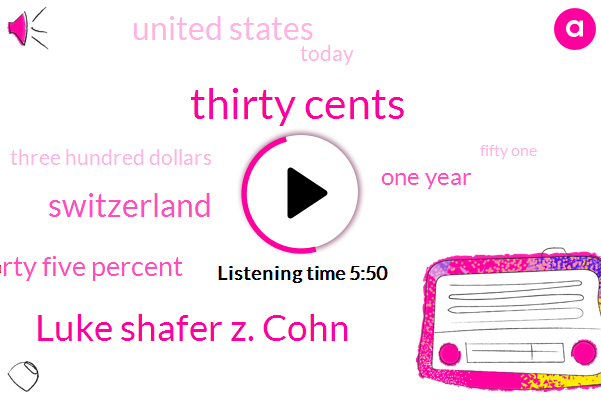 Thirty Cents,Luke Shafer Z. Cohn,Switzerland,Forty Five Percent,One Year,United States,Today,Three Hundred Dollars,Fifty One,Late Nineties,Nineteen Nineties,Forty Nine Percent,Swiss,Nineties,Last Twenty Years,One Key Detail,Nineteen,University Of Lausanne,European Union,ONE
