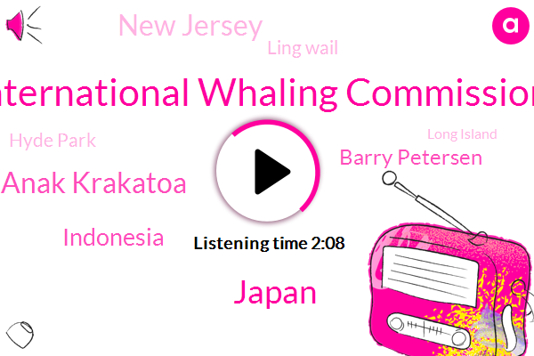 International Whaling Commission,Japan,Anak Krakatoa,Indonesia,Barry Petersen,New Jersey,Ling Wail,Hyde Park,Long Island,CBS,Jillian Government,Sixteen Hundred Feet,Five Hundred Meters,Thirty Four Degrees,Three Thousand Feet