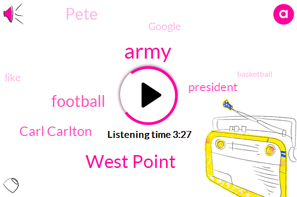 West Point,Army,Football,Carl Carlton,President Trump,Pete,Google,Basketball,Novi,Officer,Battalion,Two Years
