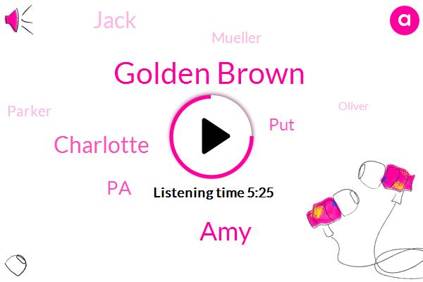 Golden Brown,AMY,Charlotte,PA,PUT,Jack,Mueller,Parker,Oliver