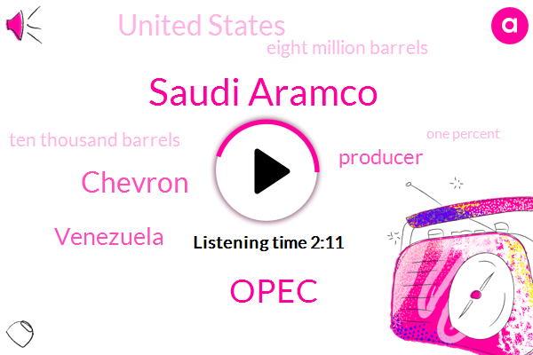 Saudi Aramco,Opec,Chevron,Venezuela,Producer,United States,Bloomberg,Eight Million Barrels,Ten Thousand Barrels,One Percent,Four Year