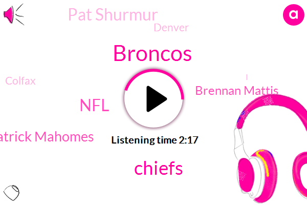 Broncos,Chiefs,NFL,Patrick Mahomes,Brennan Mattis,Pat Shurmur,Denver,Colfax,Mclean,Alexander Johnson,Dixon,Winfrey,Elway,John