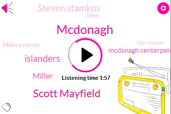 Mcdonagh,Scott Mayfield,Islanders,Mcdonagh Centerpoint,Miller,Steven Stamkos,Zeke,Millery Corner,Tyler Johnson,Martin,Greis,Five Minutes