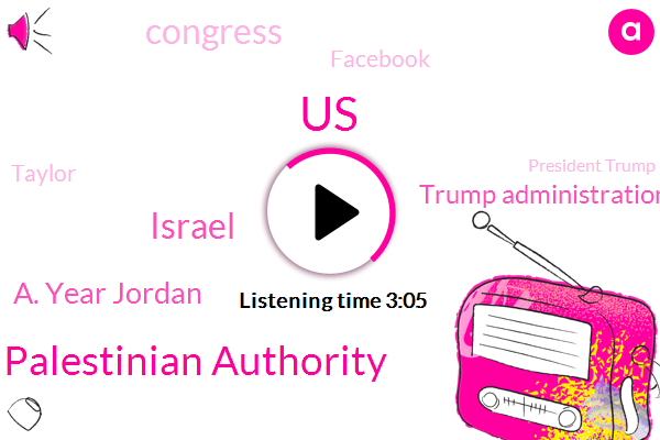 Palestinian Authority,United States,Israel,A. Year Jordan,Trump Administration,Congress,Facebook,Taylor,President Trump,Vanderbilt,Hamas,Senate,Bruce,Two Hundred Million Dollars,Million Dollars