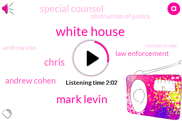 White House,Mark Levin,Chris,Andrew Cohen,Law Enforcement,Special Counsel,Obstruction Of Justice,Andrew Cho,Michael Savage,Lewis Reagan,America,Kevin Miller,Barack Obama,Official,Deputy Attorney General,Rod Rosenstein,Moller,President Trump,Capitol Hill,Moeller,Robert Muller,Reporter,Donald Trump,Ten Minutes,Fifty Days