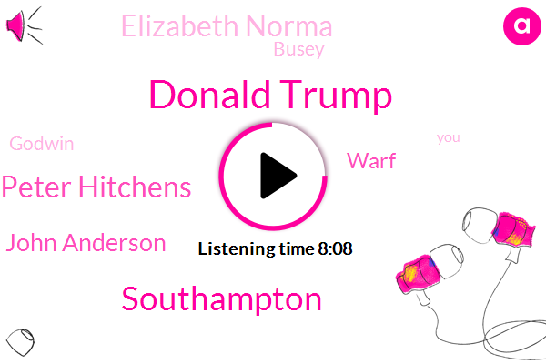 Donald Trump,Southampton,Peter Hitchens,John Anderson,Warf,Elizabeth Norma,Busey,Godwin,Lucy,Munster,Michael,Turkey Lee,Twenty Years,Two Minutes