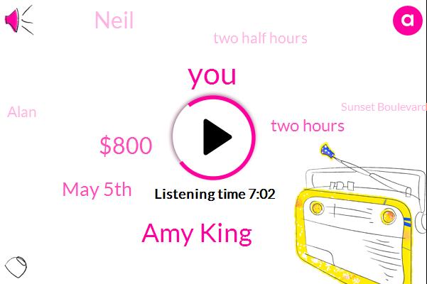 Amy King,$800,May 5Th,Two Hours,Neil,Two Half Hours,Alan,Sunset Boulevard,Disneyland,Turkey,Today,Fourth Report,Sado,OJ,ONE,Half First,Armando Dilatory,French,Single,Boyle