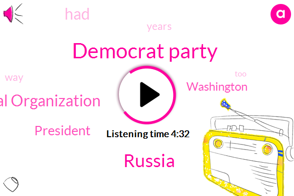 Limbaugh,Democrat Party,Russia,National Organization,President Trump,Washington