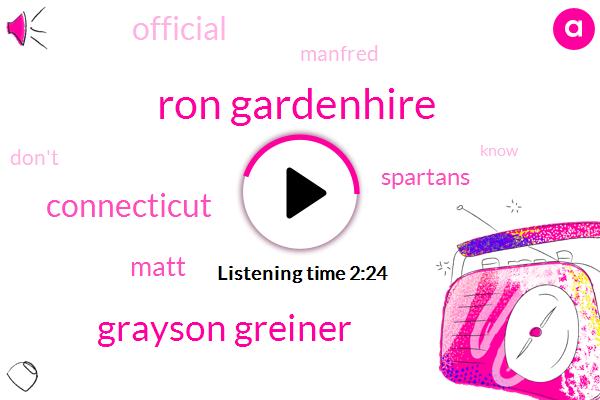 Ron Gardenhire,Grayson Greiner,Connecticut,Matt,Spartans,Baseball,Official,Manfred
