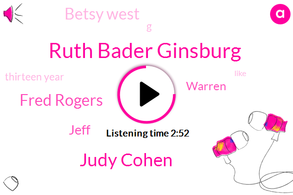 Ruth Bader Ginsburg,Judy Cohen,Fred Rogers,Jeff,Warren,Betsy West,G,Thirteen Year