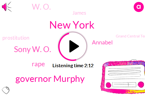 New York,Governor Murphy,Sony W. O.,Rape,Annabel,W. O.,James,Prostitution,Grand Central Terminal,President Trump,Jeff Mckinney,Essex County,Newark,O. R. Station,Harvey Weinstein,Oklahoma,Johnson,Den Marini,Chip Brianti