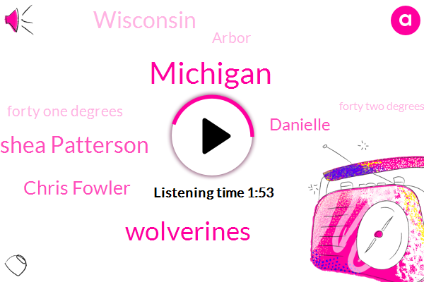 Michigan,Wolverines,Shea Patterson,Chris Fowler,Danielle,ABC,Wisconsin,Arbor,Forty One Degrees,Forty Two Degrees
