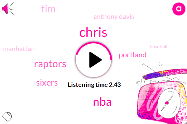 Chris,NBA,Raptors,Sixers,Portland,TIM,Anthony Davis,Manhattan,Baseball,Miami,Philly,Four Seconds,One Day