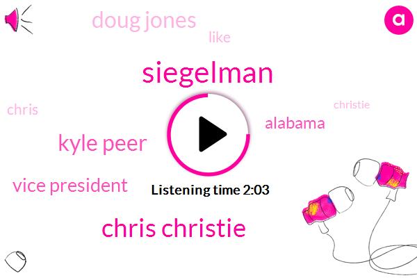 Siegelman,Chris Christie,Kyle Peer,Vice President,Alabama,Doug Jones