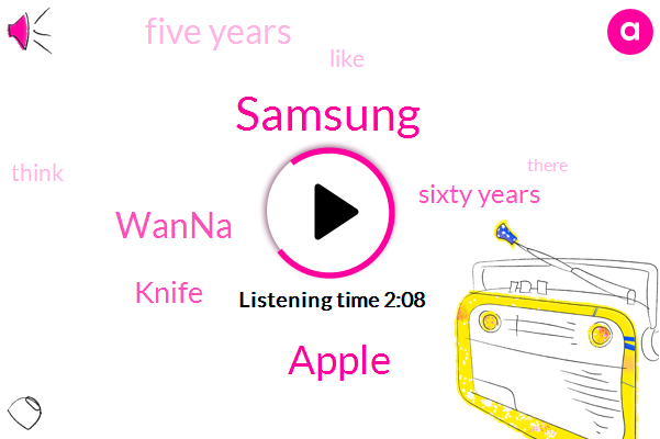 Samsung,Apple,Wanna,Knife,Sixty Years,Five Years