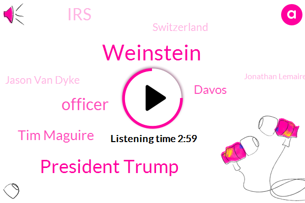 Weinstein,President Trump,AP,Officer,Tim Maguire,Davos,IRS,Switzerland,Jason Van Dyke,Jonathan Lemaire,Bronfman,Official,Martin Hunter Mcdonald,Washington,Liqun Mcdonald,Dominique Strauss-Kahn,Casey Tv,Shannon Ls,Nancy Pelosi,Mcdonald