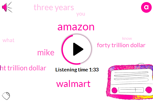 Amazon,Walmart,Mike,Twenty Eight Trillion Dollar,Forty Trillion Dollar,Three Years
