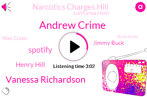 Andrew Crime,Vanessa Richardson,Spotify,Henry Hill,Jimmy Buck,Narcotics Charges Hill,Lufthansa Heist,Max Cutler,Burke Burke,Bucks Hitlist,Ron Shapiro Piro,Robbery,Andy Weights,Abigail Cannon,Facebook,Maggie Admire,Executive,Carly Madden,Instagram