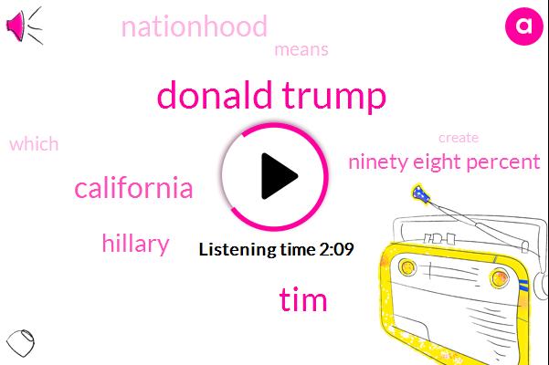 Donald Trump,TIM,California,Hillary,Ninety Eight Percent