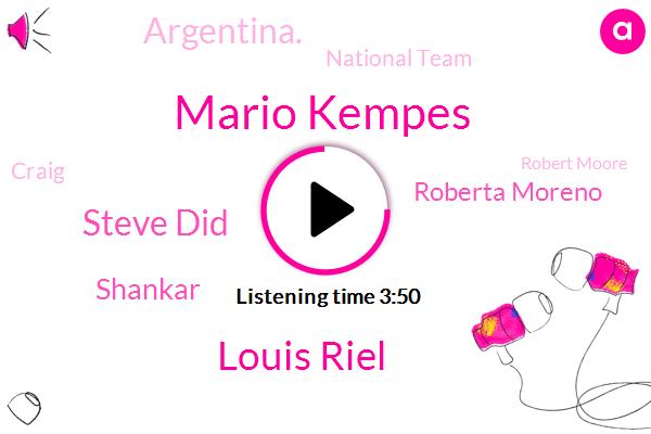 Mario Kempes,Louis Riel,Steve Did,Shankar,Roberta Moreno,Argentina.,National Team,Craig,Robert Moore,JOE,TOM,Stevie,Lewis,Ricky