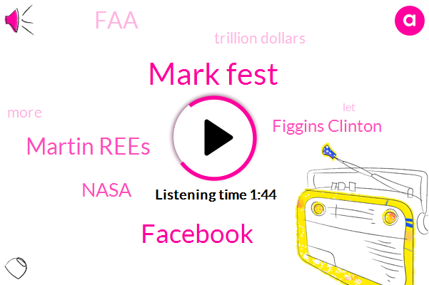 Mark Fest,Facebook,Martin Rees,Nasa,Figgins Clinton,FAA,Trillion Dollars
