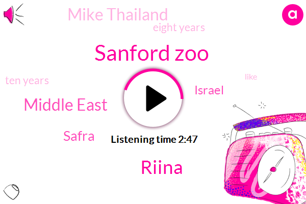 Sanford Zoo,Riina,Middle East,Safra,Israel,Mike Thailand,Eight Years,Ten Years