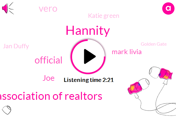 Hannity,National Association Of Realtors,Official,JOE,Mark Livia,Vero,Katie Green,Jan Duffy,Golden Gate,Pacifica,America,Kate,Dave Ramsey,Michael Savage,Rush Limbaugh,Brian Sussman,Campbell,Livermore,Edwards