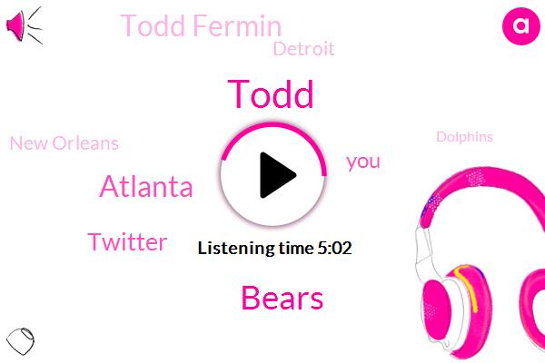 Bears,Atlanta,Twitter,Todd,Todd Fermin,Detroit,New Orleans,Dolphins,Matthew Stafford,Vikings,Matt Patricia,Steelers,Raheem Morris,Todd Furman,Kenny Golladay,NFL,Shane,Matt Ryan,Yurko,Vegas