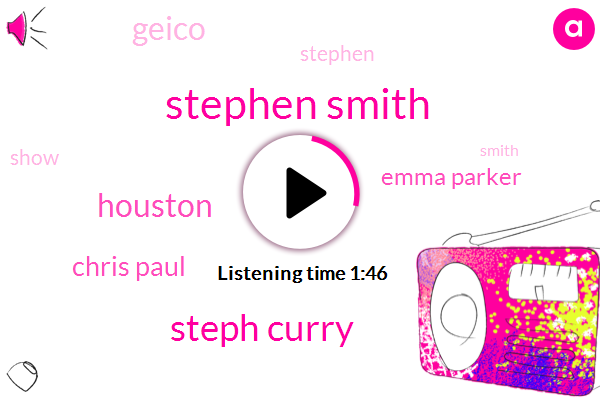Stephen Smith,Steph Curry,Houston,Chris Paul,Emma Parker,Geico