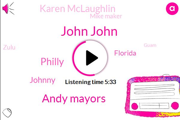 John John,Andy Mayors,Philly,Johnny,Florida,Karen Mclaughlin,Mike Maker,Zulu,Guam,Phillies,MS,Fred Bri,John Conley,Jackson,Peter,Dong,Mcknight,Laki,Jose,Kieran