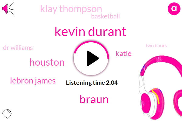 Kevin Durant,Braun,Lebron James,Katie,Houston,Klay Thompson,Basketball,Dr Williams,Two Hours,Twelve Seconds