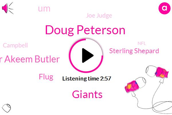 Doug Peterson,Giants,Butler Akeem Butler,Flug,Sterling Shepard,UM,Joe Judge,Campbell,NFL,Korea,Sterling Shepherd