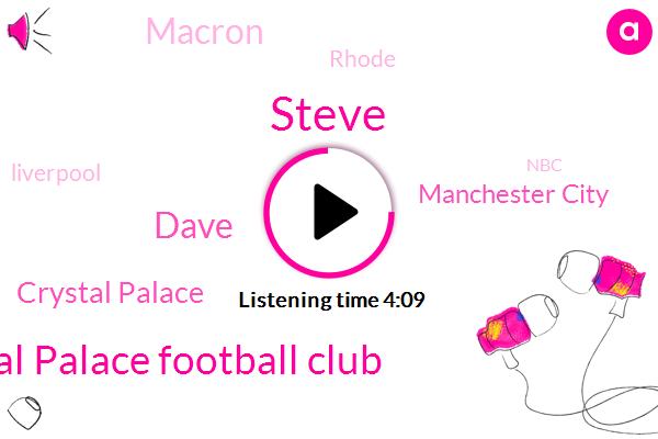 Steve,Crystal Palace Football Club,Dave,Crystal Palace,Manchester City,Macron,Rhode,Liverpool,NBC,Youtube,Football,Tilton,IMF,Tesla,Britain,Mosca,David,Ford