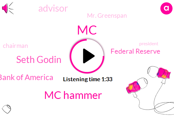 Mc Hammer,Seth Godin,MC,Bank Of America,Federal Reserve,Advisor,Mr. Greenspan,Chairman,President Trump,Mr. Bernardi,Executive