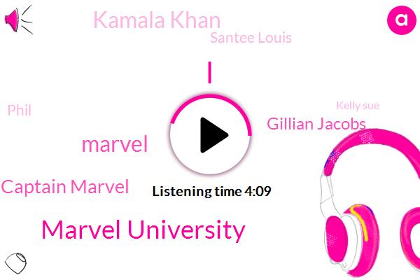 Marvel University,Marvel,Captain Marvel,Gillian Jacobs,Kamala Khan,Santee Louis,Phil,Kelly Sue,Disney,Steinberg,Simonsen