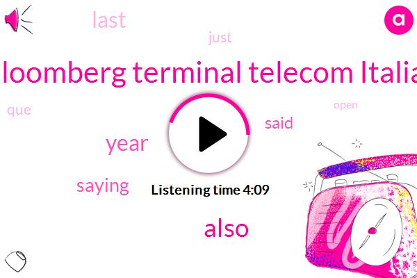Bloomberg Terminal Telecom Italia