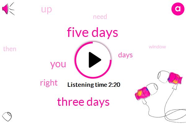 Five Days,Three Days