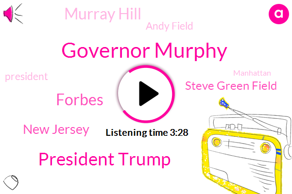 Governor Murphy,President Trump,Forbes,New Jersey,Steve Green Field,Murray Hill,Andy Field,ABC,Manhattan,Motor Vehicle Commission,Dr Anthony,Asymptomatic,Washington,Assan,James Flipping,James Flippen,George Floyd