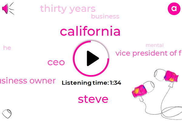 California,Steve,CEO,Business Owner,Vice President Of Field Operations,Thirty Years