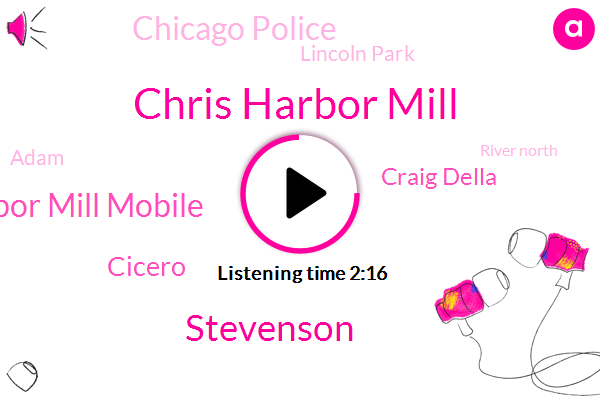 Chris Harbor Mill,Stevenson,Chris Harbor Mill Mobile,Cicero,Craig Della,Chicago Police,Lincoln Park,Adam,River North,Twitter,Bodner,Indiana,Fairfield North,Robin,Dan Ryan,Bishop Ford,O'hare,Eden,Harlem