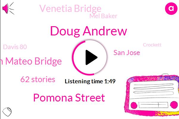Doug Andrew,Pomona Street,San Mateo Bridge,62 Stories,San Jose,Venetia Bridge,Mel Baker,Davis 80,Crockett,More Than 45 Years,Over 200 Pages,Canseco,Two Middle Lane,Lafayette 24,Hundreds Of Thousands Of Dollars,Montague,1 13 North,Ksfo,Elaine,Years