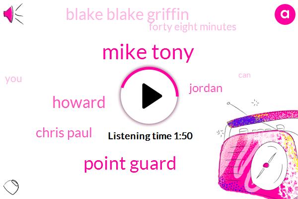 Mike Tony,Point Guard,Howard,Chris Paul,Jordan,Blake Blake Griffin,Forty Eight Minutes