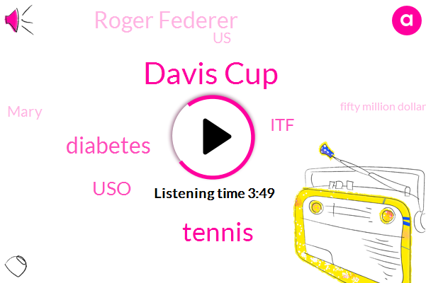Davis Cup,Tennis,Diabetes,USO,ITF,Roger Federer,United States,Mary,Fifty Million Dollars,Four Weeks,One Week